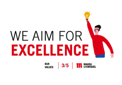 We aim for excellence